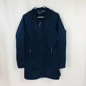 Mountain Hardwear Long Soft Shell Coat Hooded Lrg